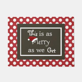 """""""これは私達が""""クリスマスを得るとメリーです ドアマット"""