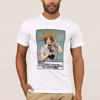 これは自由の話すことです Tシャツ