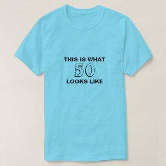 これは誕生日のワイシャツのように50番の見え何です Tシャツ