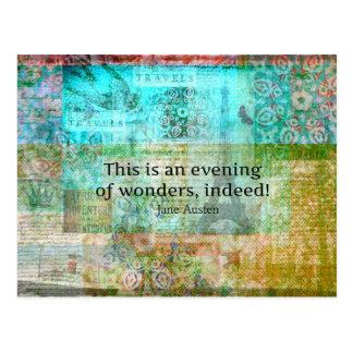 これは驚異の夕べ、全くです! ジェーンAUSTEN ポストカード