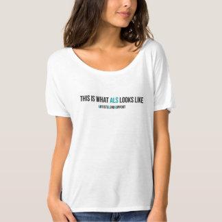 これはALSが女性のTシャツを見るものです Tシャツ