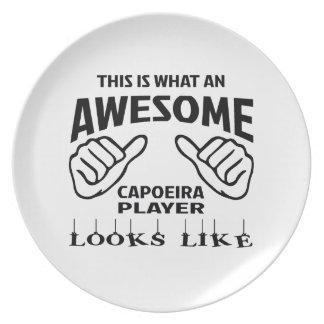 これはCapoeiraなんと素晴らしいプレーヤーのように見えるかです プレート