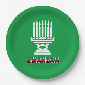 これはKwanzaa Kwanzaaのパーティーの紙皿です ペーパープレート