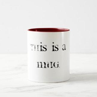 これはmug.MUGです ツートーンマグカップ