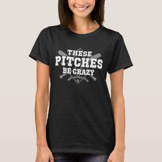 これらのピッチは暗い衣服で熱狂するです Tシャツ