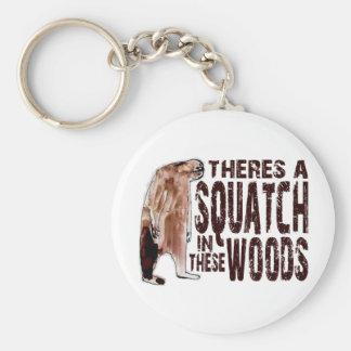 これらの森のかわいいSQUATCH -ビッグフットのギアを見つけること キーホルダー