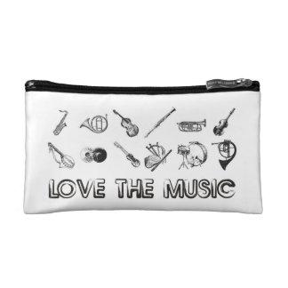 これらの楽器との音楽を愛して下さい コスメティックバッグ