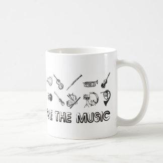 これらの楽器との音楽を愛して下さい コーヒーマグカップ