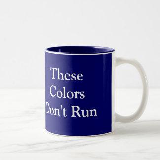これらの色は走りません ツートーンマグカップ