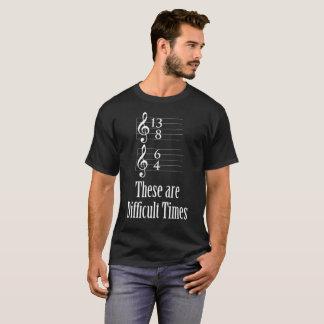 これらは困難な時です Tシャツ