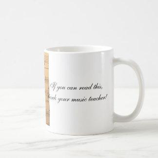 これを読むことができたらあなたの音楽の先生を感謝していして下さい コーヒーマグカップ