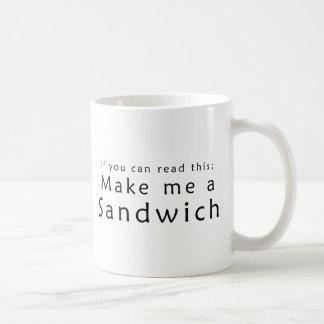 これを読むことができたら私にサンドイッチをして下さい コーヒーマグカップ