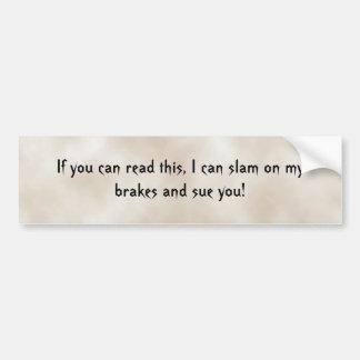 これを読むことができれば私は…ばたんと閉まってもいいです バンパーステッカー