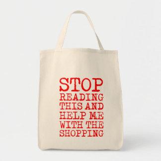 """""""これを読むことを止め、救済して下さいショッピングとの私を"""" トートバッグ"""