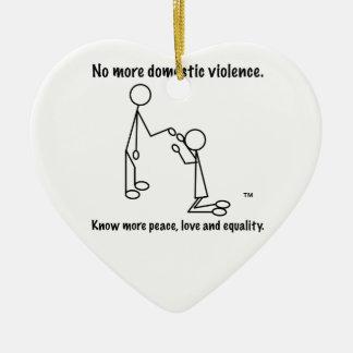 これ以上の家庭内暴力のハートのオーナメント セラミックオーナメント