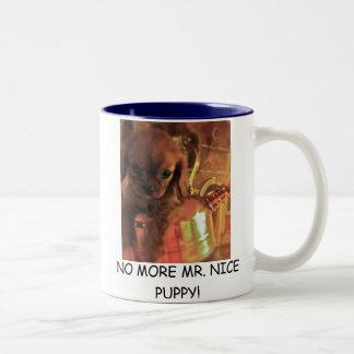 これ以上の氏NICE PUPPY! コーヒー・マグ ツートーンマグカップ