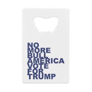 これ以上のBull、アメリカの切札のための投票 ウォレット ボトルオープナー