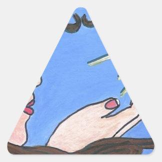 これ以上単独で 三角形シール