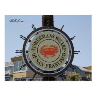 こんにちはから… Fishermansの波止場 ポストカード