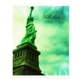 こんにちはから… NYCの自由の女神 ポストカード