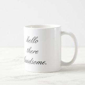 こんにちはそこにハンサムなコーヒー・マグ コーヒーマグカップ