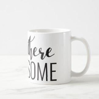 こんにちはそこにハンサムな11のozのマグ コーヒーマグカップ