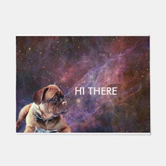 こんにちはそこに宇宙で後をつけて下さい ドアマット