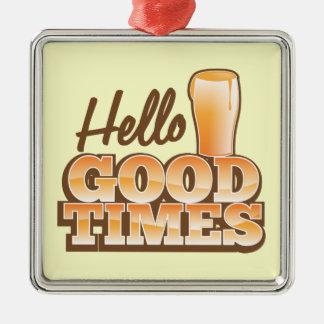 こんにちはよい時! ビール店のデザイン メタルオーナメント