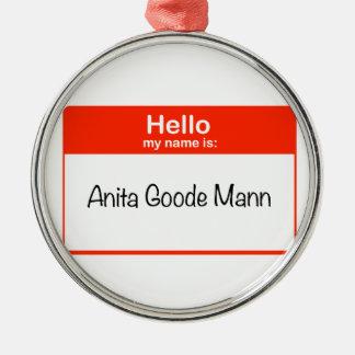 こんにちはアニータGoodeマン メタルオーナメント
