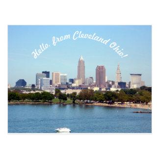 こんにちはクリーブランドオハイオ州の郵便はがきから ポストカード