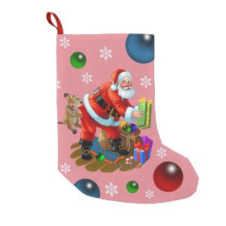 こんにちはサンタ スモールクリスマスストッキング