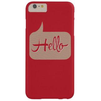 こんにちはスピーチの泡赤 iPhone 6 PLUS ベアリーゼアケース