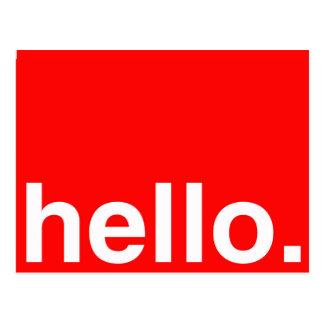 こんにちはタイポグラフィの挨拶 ポストカード