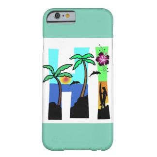 こんにちはハワイの海の日没のヤシの木 BARELY THERE iPhone 6 ケース