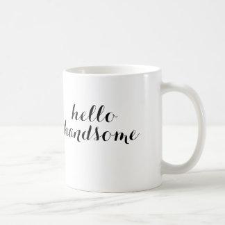 こんにちはハンサムなマグ コーヒーマグカップ