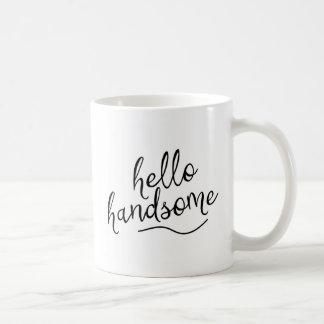 こんにちはハンサム コーヒーマグカップ