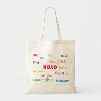 こんにちはバッグ トートバッグ