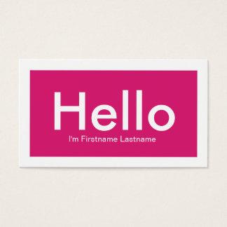 こんにちはピンクの個人的なネットワーキングの名刺 名刺