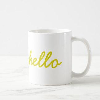 こんにちはマグ(黄色) コーヒーマグカップ