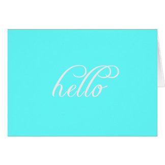 こんにちはメッセージカード カード