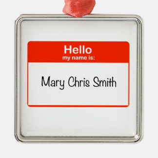こんにちはメリークリススミス メタルオーナメント