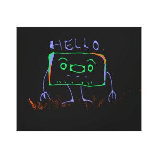 こんにちはロボット キャンバスプリント