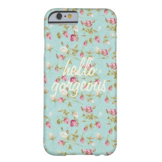 こんにちはヴィンテージの花パターンぼろぼろのバラの上品 BARELY THERE iPhone 6 ケース