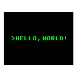 こんにちは世界のコンピュータ・プログラミング ポストカード