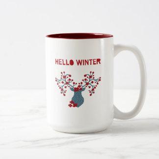 こんにちは冬 ツートーンマグカップ