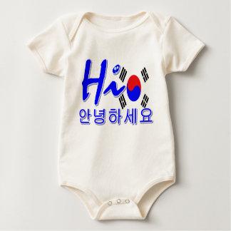 こんにちは南朝鮮 ベビーボディスーツ