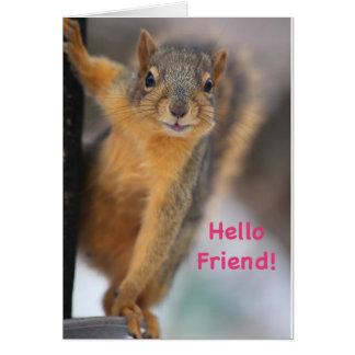 こんにちは友人! カード