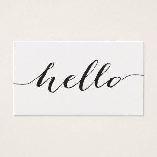 こんにちは名刺、真珠色の紙 名刺