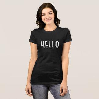 こんにちは均一か昇進の上 Tシャツ