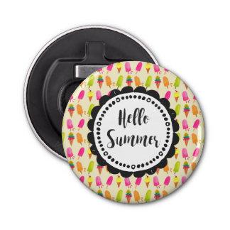 こんにちは夏のアイスキャンデーおよびアイスクリーム 栓抜き